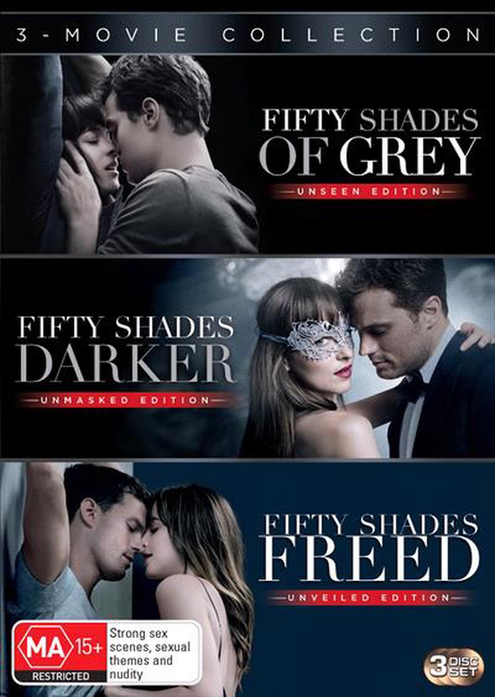 Fifty Shades Of Grey Fifty Shades Darker Fifty Shades Freed Triple Pack Dvd Buy Online At The Nile