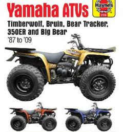 yamaha timberwolf bruin bear tracker 350er big bear atv repair manual by anon paperback 9781620921135 buy online at the nile [ 1000 x 1299 Pixel ]