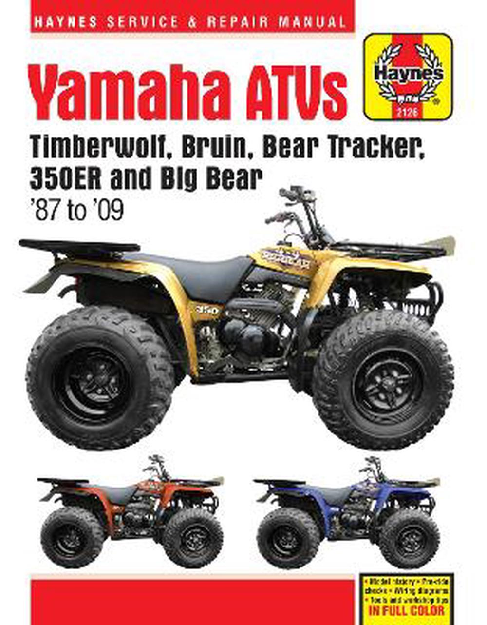 hight resolution of yamaha timberwolf bruin bear tracker 350er big bear atv repair manual by anon paperback 9781620921135 buy online at the nile