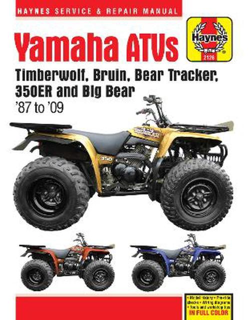 small resolution of yamaha timberwolf bruin bear tracker 350er big bear atv repair manual by anon paperback 9781620921135 buy online at the nile