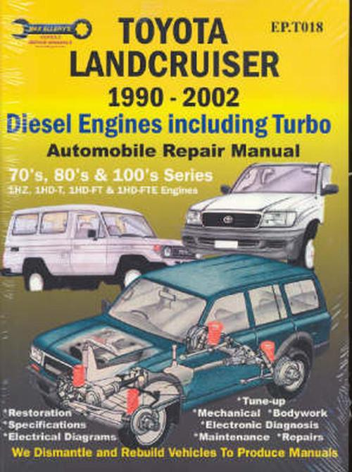 small resolution of toyota landcruiser 1990 2007 automobile repair manual diesel engines including turbo by max ellery paperback 9781876720018 buy online at the nile