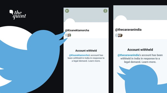 Several other individual Twitter accounts connected with the farmers' movement have also been suspended.