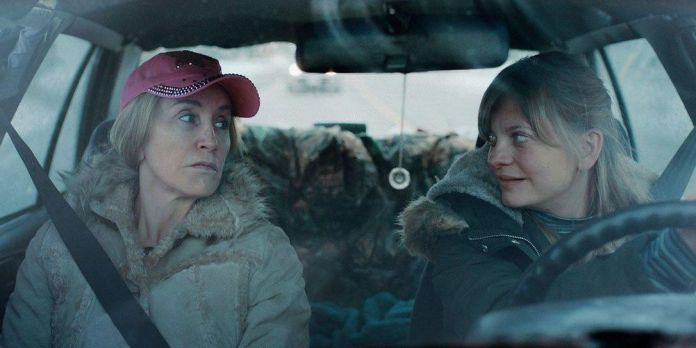 Felicity Huffman and Anastasia Phillips in Tammy's Always Dying, directed by Amy Jo Johnson.
