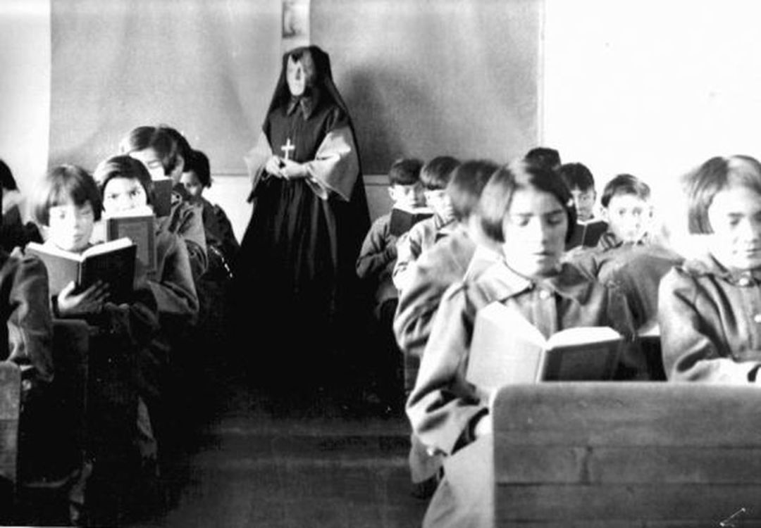 St. Anne s Indian Residential School students are seen reading in a classroom in Fort Albany, Ont., in an undated photo.