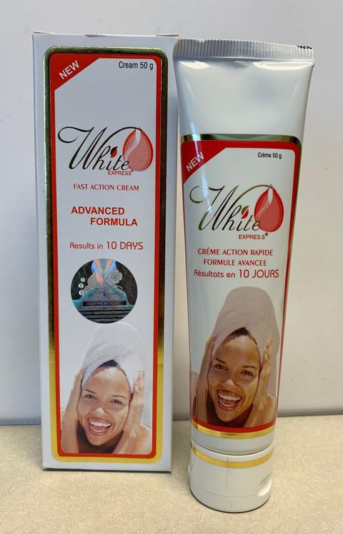 One of the unauthorized products seized during a Dec. 18 Health Canada inspection of Excel Beauty Supply in Etobicoke. The label on White Express Fast Action Cream Advanced Formula says it contains Clobetasol propionate 0.05% and Clotrimazole 1%, the regulator said in a safety alert. Clotrimazole, Health Canada says on its website, is a prescription drug used to treat vaginal yeast infections. It can cause nausea, abdominal pain, rashes and allergic reactions.