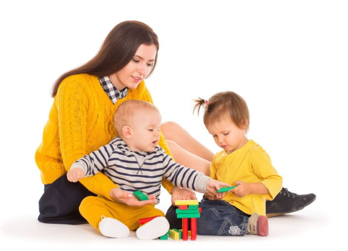 Image result for kid helping mom to take care of babies