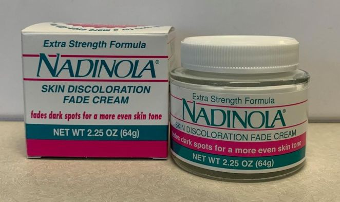 One of the unauthorized products seized during a Dec. 18 Health Canada inspection of Excel Beauty Supply in Etobicoke. The label on Nadinola Extra Strength Formula Skin Discolouration Fade Cream says it contains Hydroquinone 3%, the regualtor said in a safety alert.