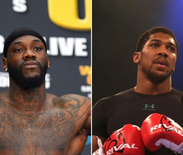 American Deontay Wilder Left Has Agreed To Take On U K S Anthony Joshua