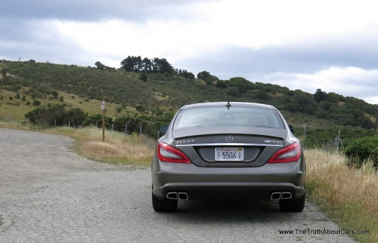2013 Mercedes-Benz  CLS63 AMG Exterior, Rear, Picture Courtesy of Alex L. Dykes
