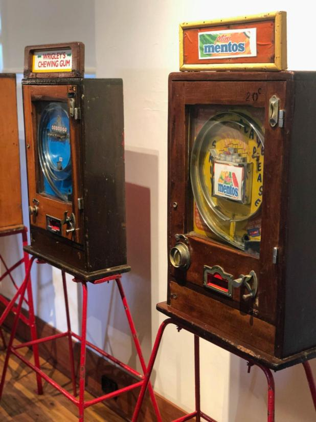 Lolly machines from 1979 on display at Bunbury Museum and Heritage Centre.