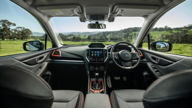 The roomy Forester has excellent visibility.