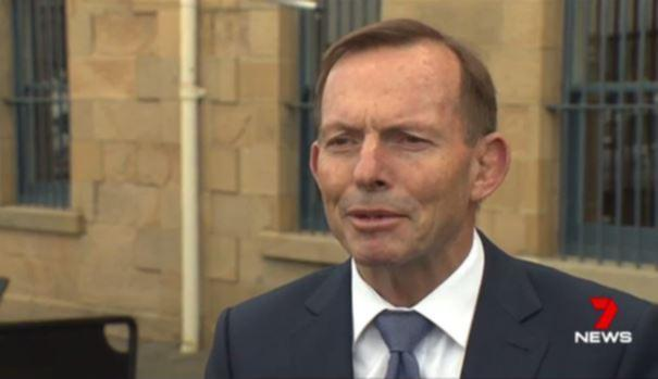 The former PM suffered a fat lip.