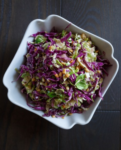 Best Brussels Sprouts And Red Cabbage Slaw Recipe The