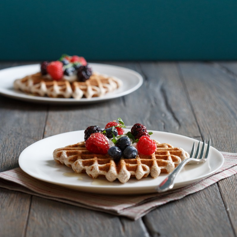 Best GlutenFree Blue Cornmeal Waffles Recipe  The Yellow Table