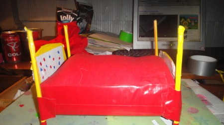 Recycled Barbie Bed