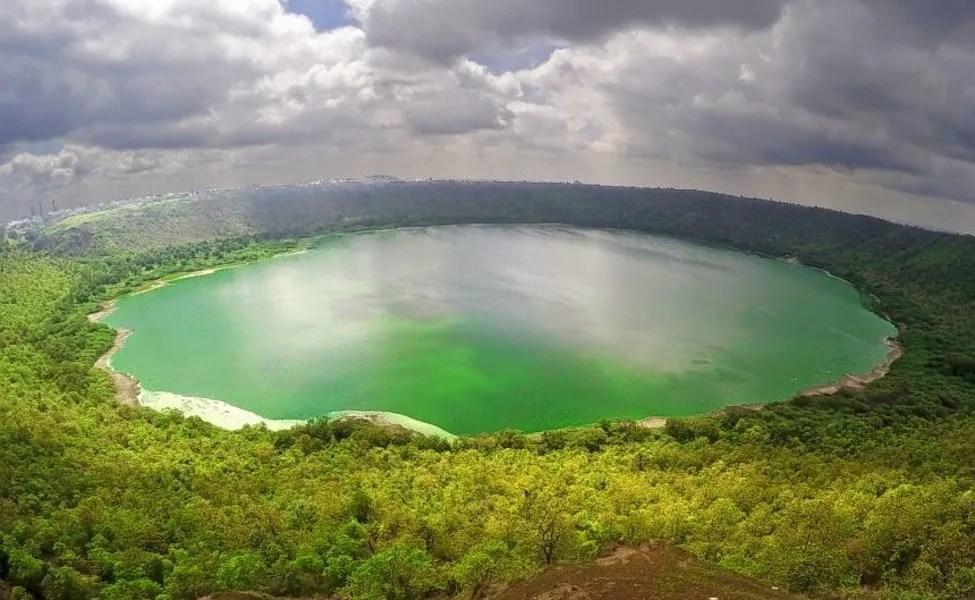 Top 5 Offbeat Monsoon Destinations In India  - Lonar Crater Maharashtra