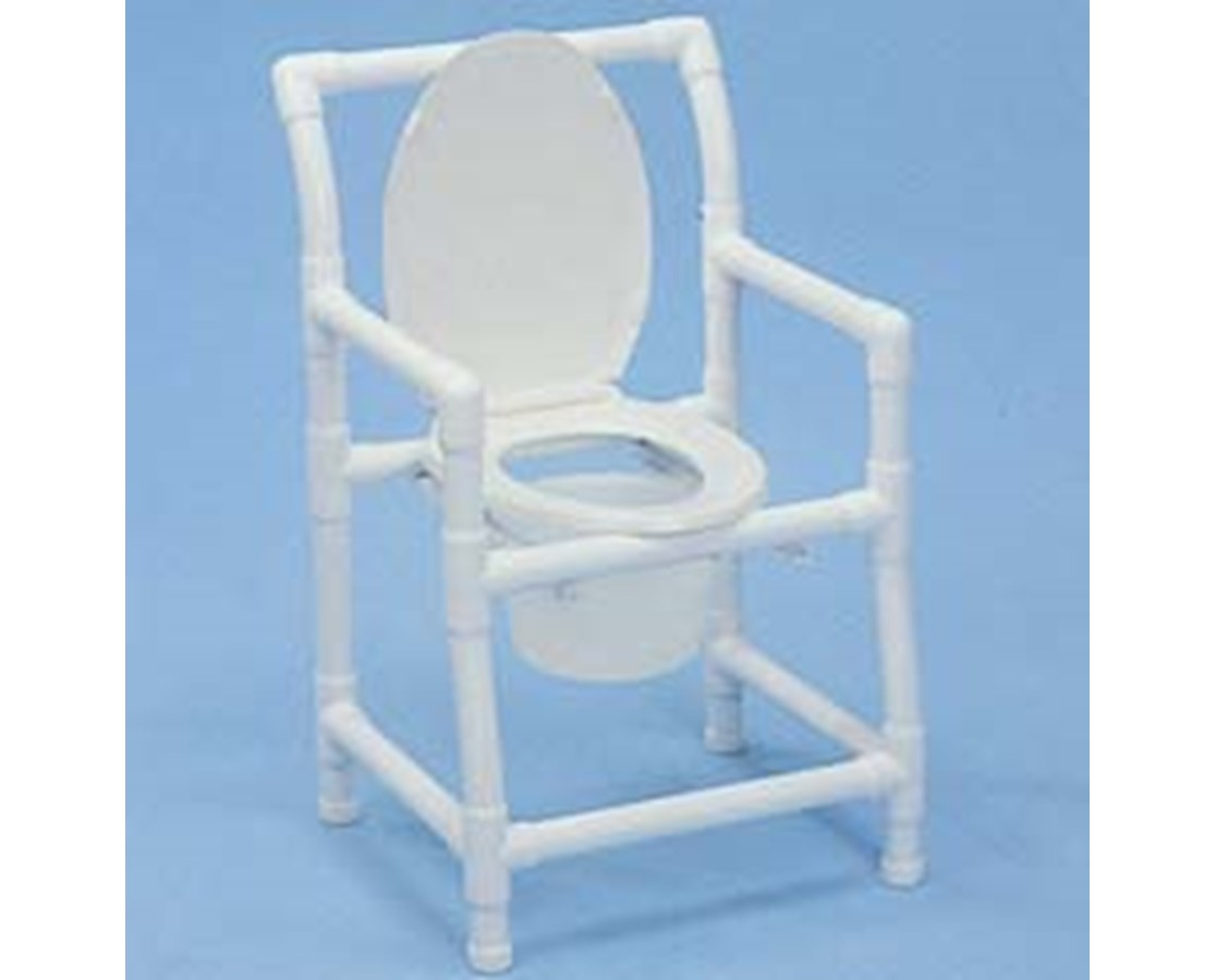 pvc commode chair parts names healthline standard free shipping