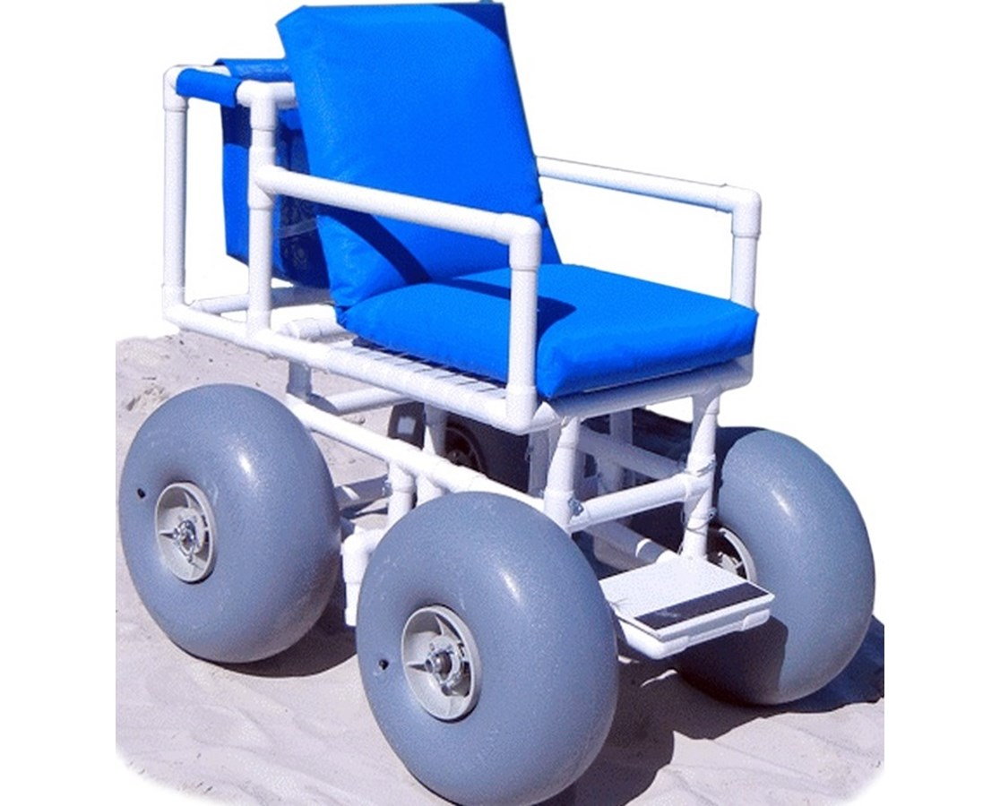 wheeled beach chair portable outdoor lounge chairs wheeleez 4 pvc wheelchair large wheels free