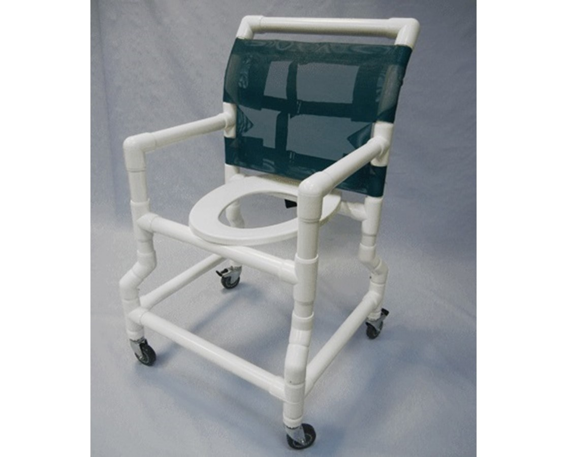 pvc commode chair baby bouncer healthline shower flarred base free shipping