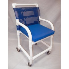 Rolling Bath Chair Inexpensive Kitchen Chairs Healthline Pvc Shower Free Shipping Tiger Medical Inc