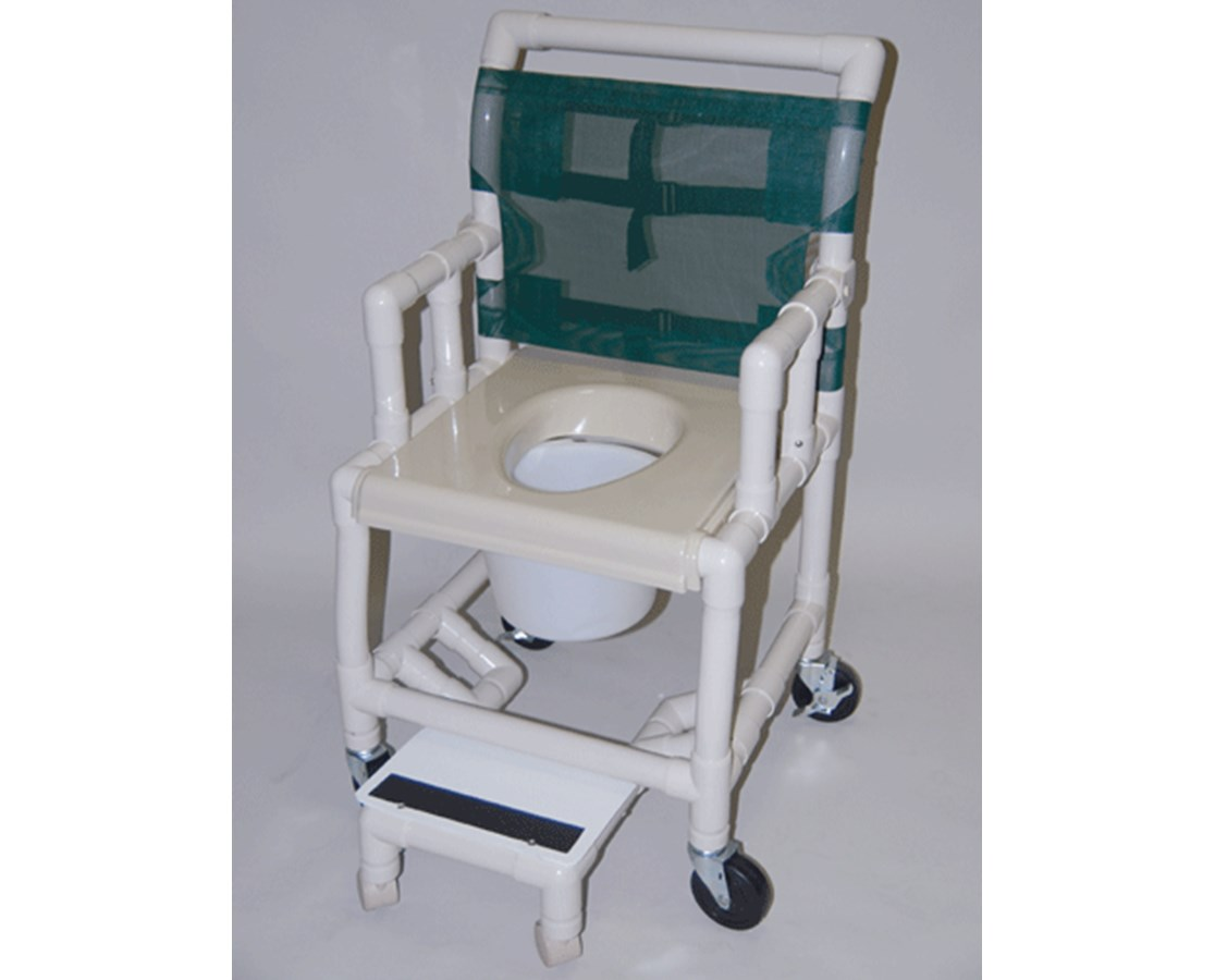 pvc commode chair kids outside chairs healthline shower vaccum seat free shipping