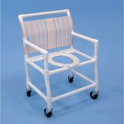 Pvc Commode Chair Swivel Round Healthline Shower Elongated Seat Free