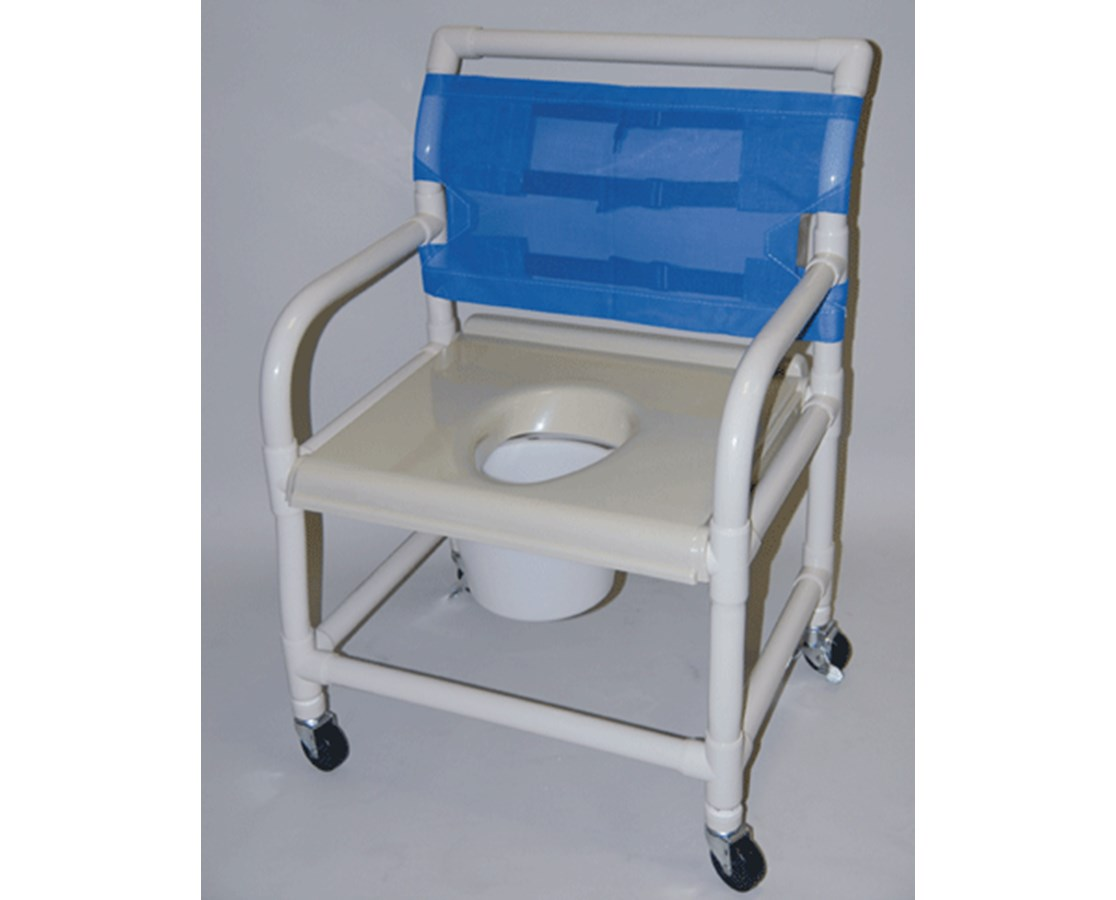 pvc commode chair reclining bed uk healthline shower 24 quot vaccum seat free