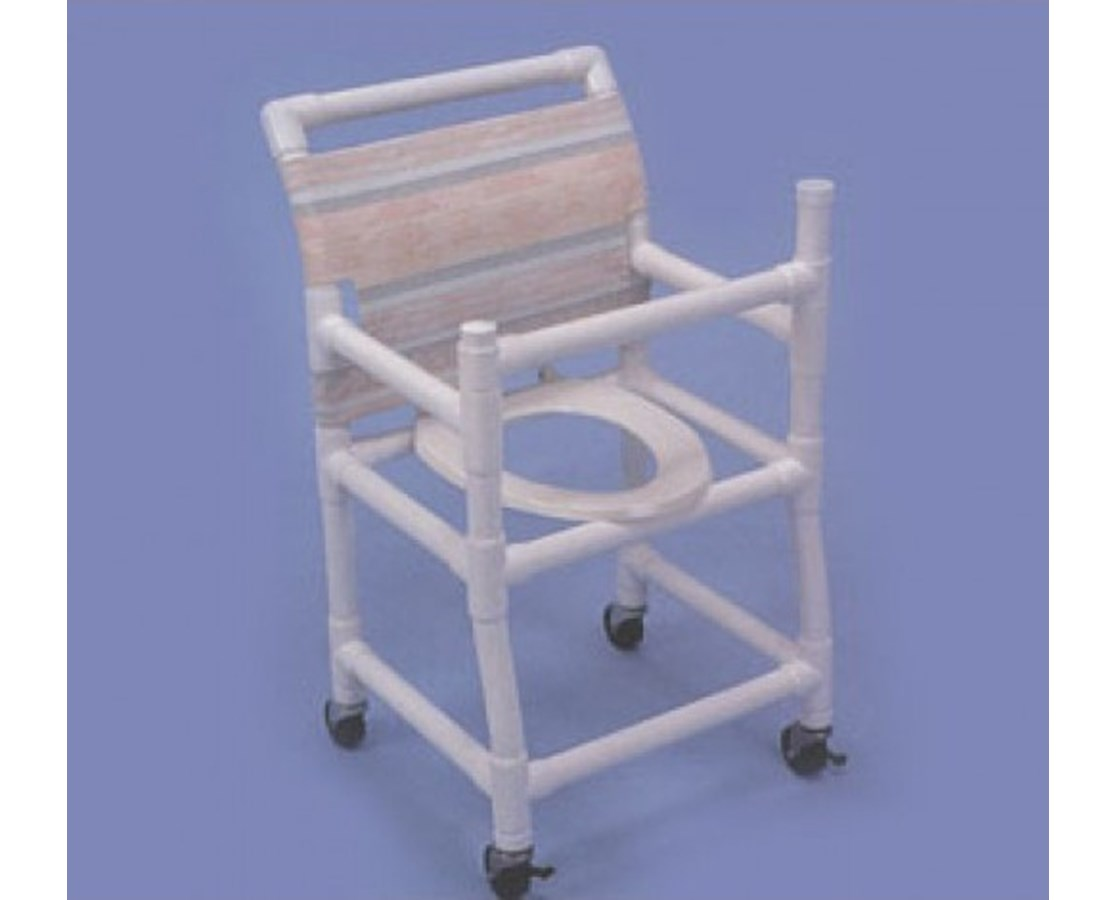 pvc commode chair arm walmart healthline gated deluxe shower free shipping
