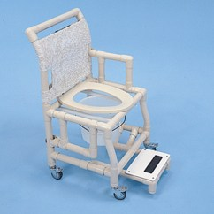 Pvc Commode Chair Zebra Print Shower 18 Quot Seat And Footrest Free Shipping