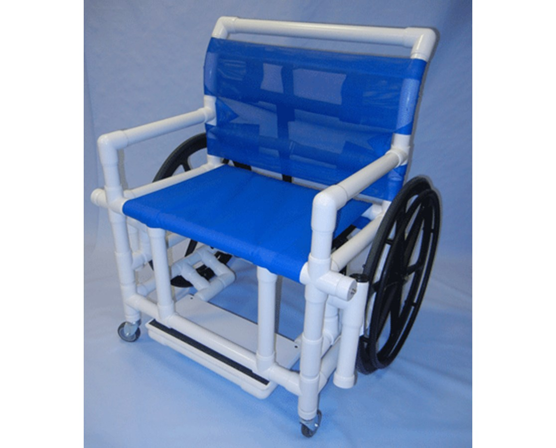 Pvc Shower Chair Healthline 24 Quot Pvc Shower Wheelchair 400 Lb Free