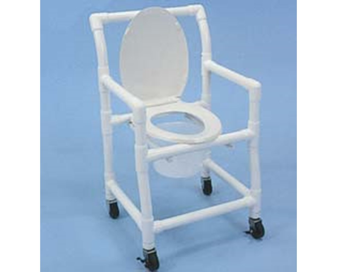 pvc commode chair room and board dining chairs healthline wheeled free shipping tiger