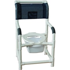 Pvc Commode Chair Reclining Oversized Mjm Shower With Rubber Tip Legs Save At