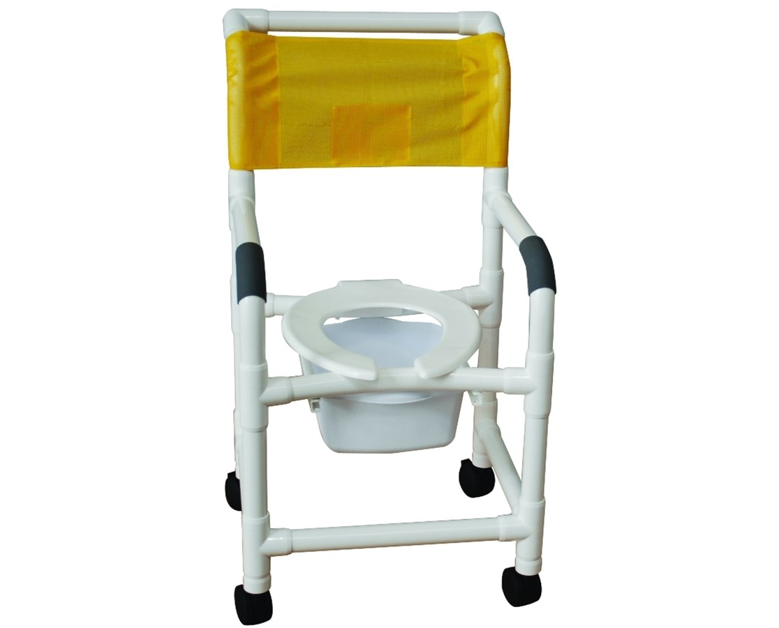 pvc commode chair brown leather dining chairs for sale mjm pediatric shower save at tiger medical