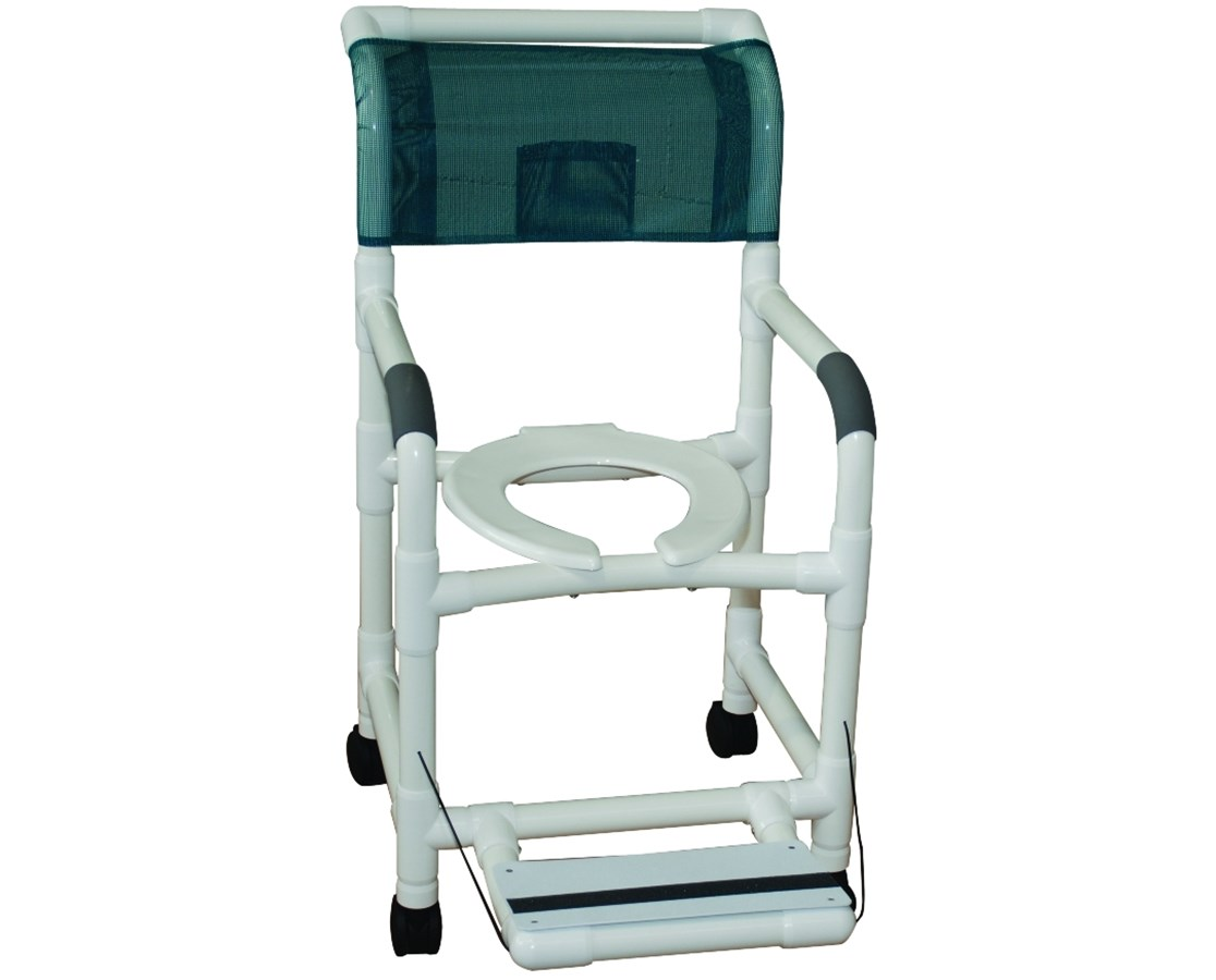 folding chairs with footrest ergonomic for back support mjm shower chair save at tiger