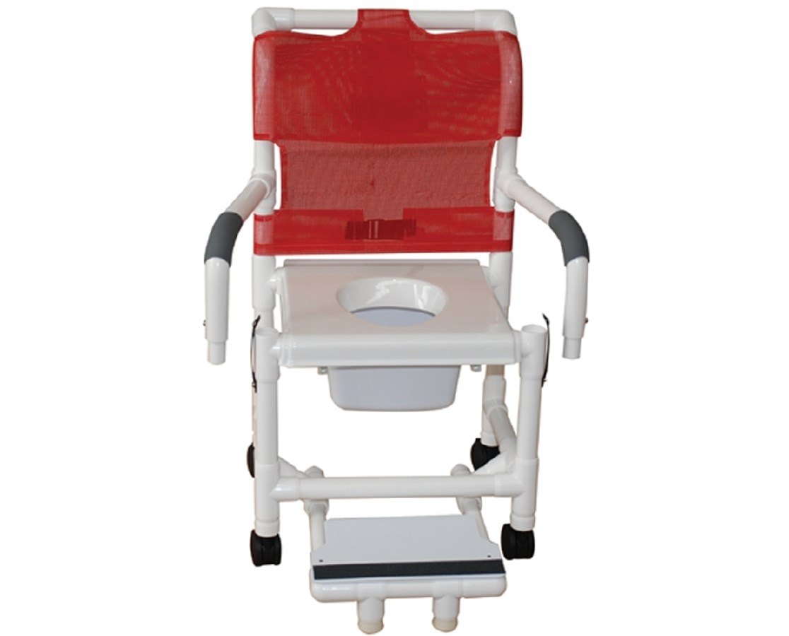 pvc commode chair mesh pool chairs mjm shower save at tiger medical inc