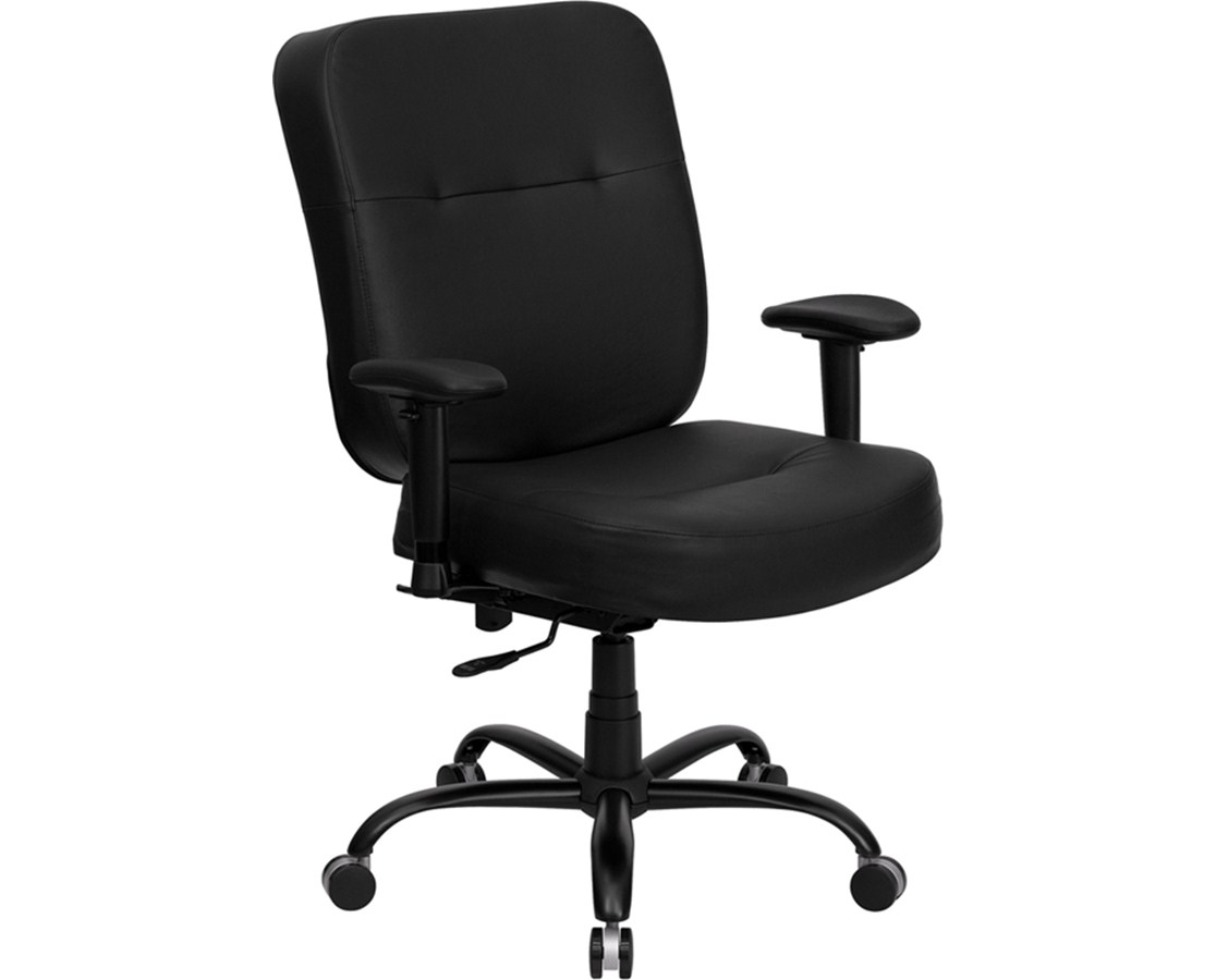 extra wide office chairs laflorn chairside end table flash furniture hercules series 400 lb capacity big and