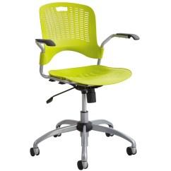 Plastic Swivel Chair Design Restaurant Safco Sassy Pierced Office 4182bl