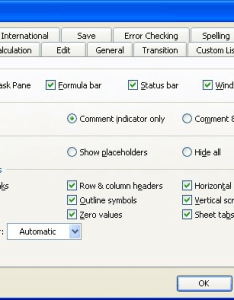 Figure the view tab of options dialog box also changing gridline color microsoft excel rh