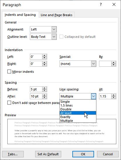 Microsoft Word Line Spacing : microsoft, spacing, Understanding, Least, Spacing, (Microsoft, Word)