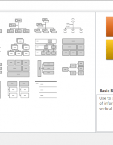 Excel displays the choose  smartart graphic dialog box at left of click hierarchy to see types organization charts available also creating an chart microsoft rh excelribbon