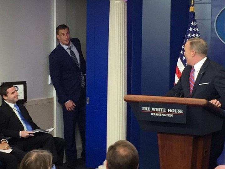 Rob Gronkowski Crashes Sean Spicer White House Press
