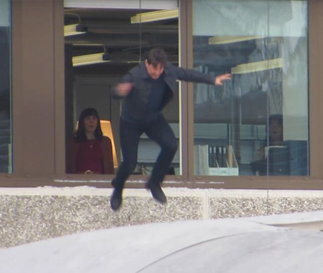 Tom Cruise Makes Second Attempt At Mission Impossible Stunt After Injury Tmz Com