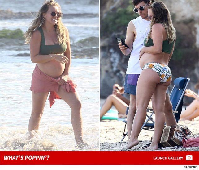 Hilary Duff Shows Off Baby Bump in Bikini During Malibu Beach Day with BF