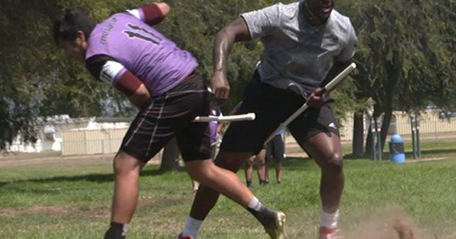 Martellus Bennett Wrecks Dudes Playing Quidditch