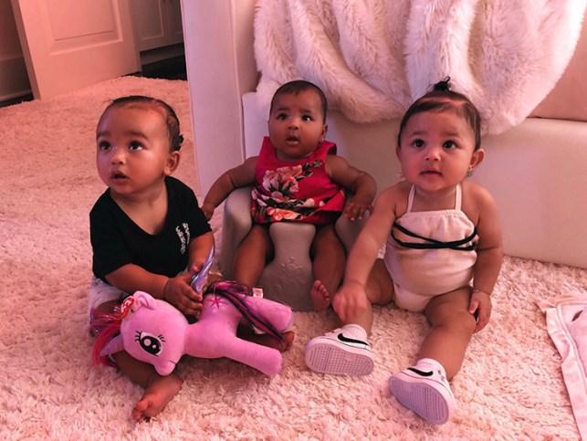 Kim Kardashian West Shares Photo of All Three Family Babies Together