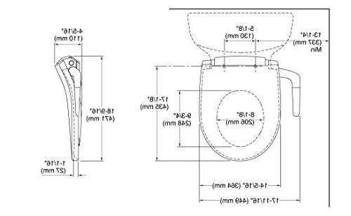 KOHLER K-76923-0 Puretide Round Front Manual Bidet Toilet