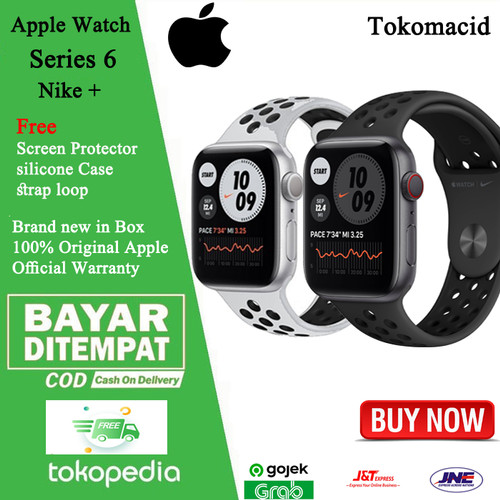 With a sensor and app to measure blood oxygen, heart health notifications, and other advanced health features, apple watch series 6 is the watch that. Jual Apple Watch Nike Series 6 2020 44mm Black Grey Silver White 40mm White Silver 40mm Non Paket Jakarta Pusat Tokomacid Tokopedia