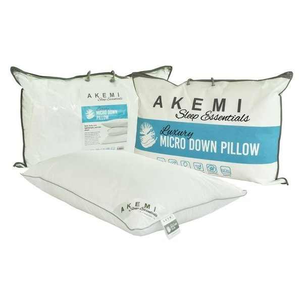 akemi sleep essential luxury micro down pillow