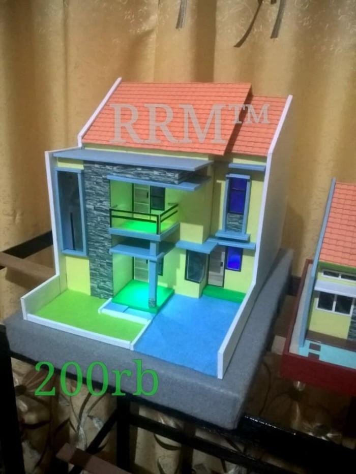 Gambar Rumah Miniatur : gambar, rumah, miniatur, Miniatur, Rumah, Minimalis, Mojokerto, Maket, Tokopedia