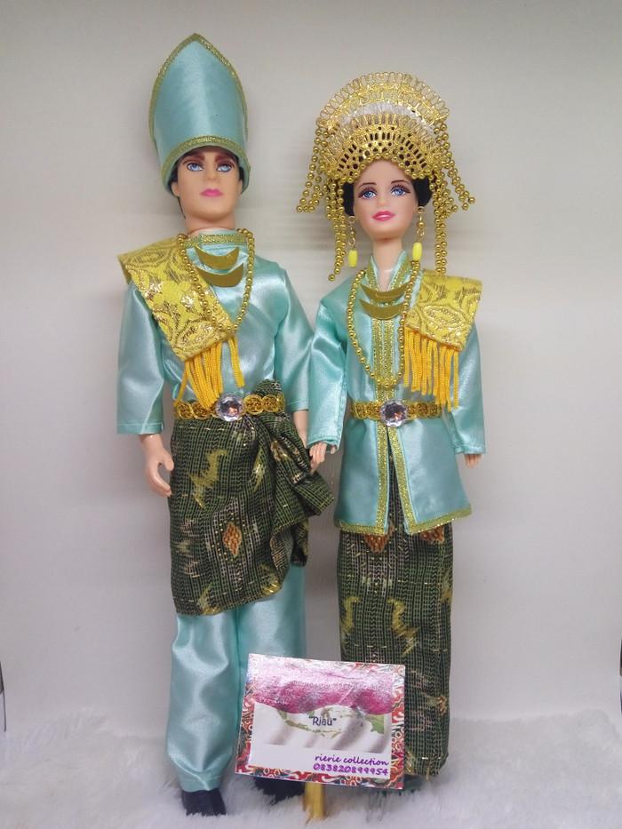 Gambar Pakaian Adat Riau : gambar, pakaian, Barbie, Bandung, Rierie, Collections, Tokopedia